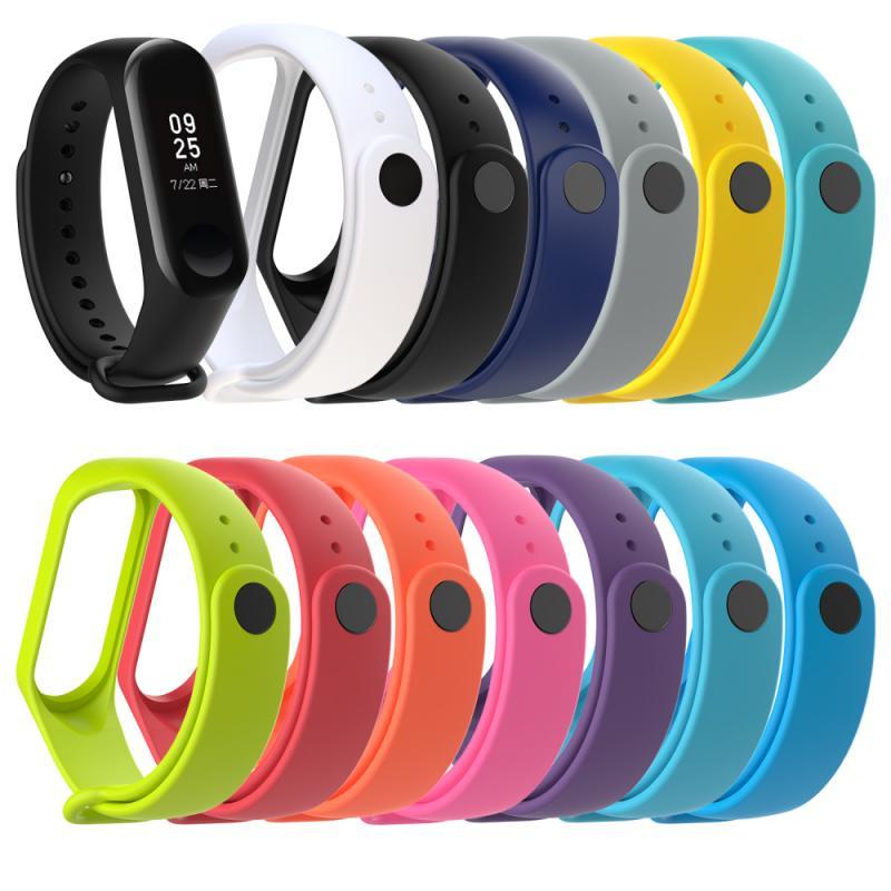 HOT!! Pulseira de silicone banda de pulso de substituição para xiaomi mi banda 3 inteligente pulseira dispositivos wearable acessórios inteligentes