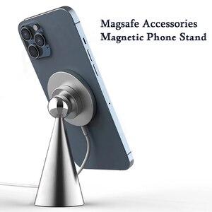 Настольная Магнитная подставка для телефона Tkey 15 Вт Magsafe, держатель для беспроводного зарядного устройства, кронштейн для быстрой зарядки для iphone 12Mini 12Pro Max 12