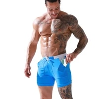 mens pocket swimming trunks with inner lining tether boxer european american beach shorts solid color stitching surfing sports