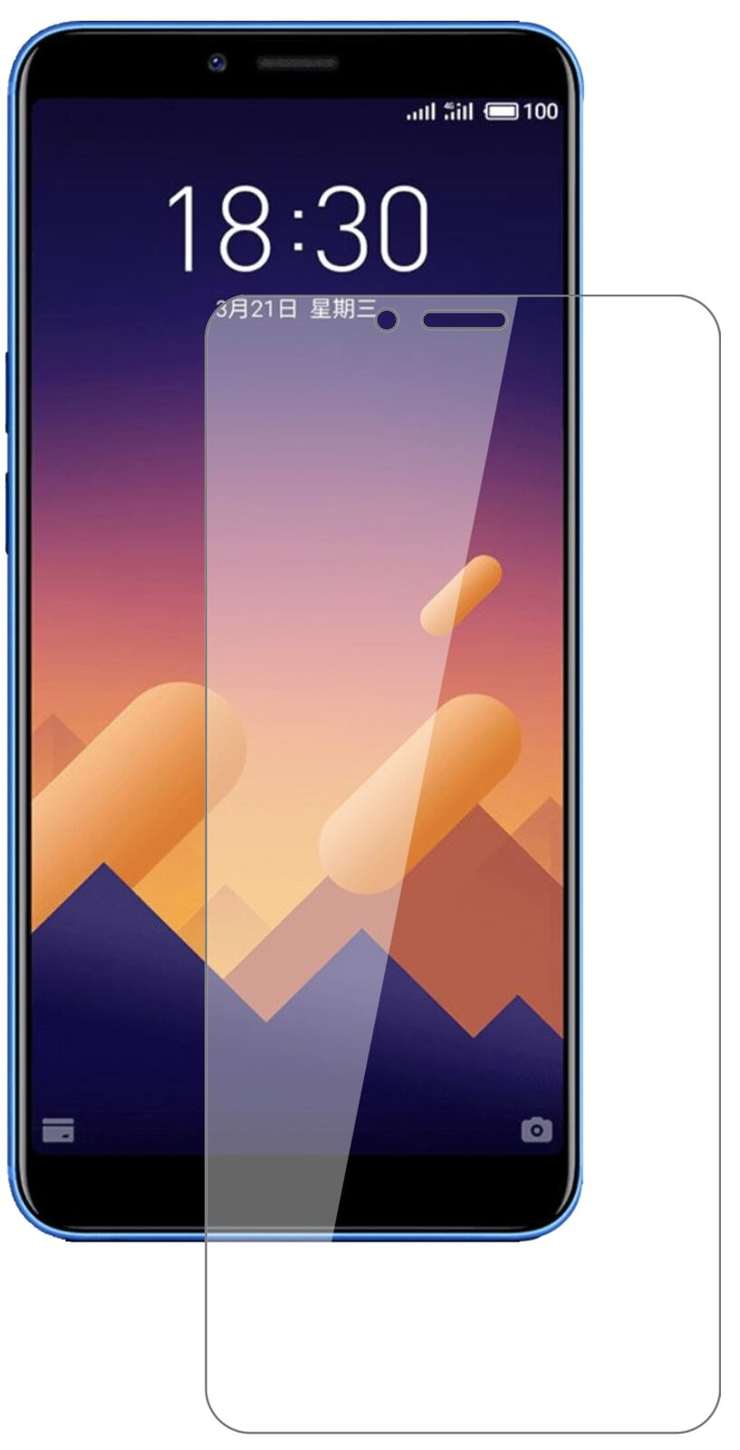 2.5D 9H  for Meizu e3 Tempered Glass Screen Protector On The for Meizu E3 Protective Film Glass Case
