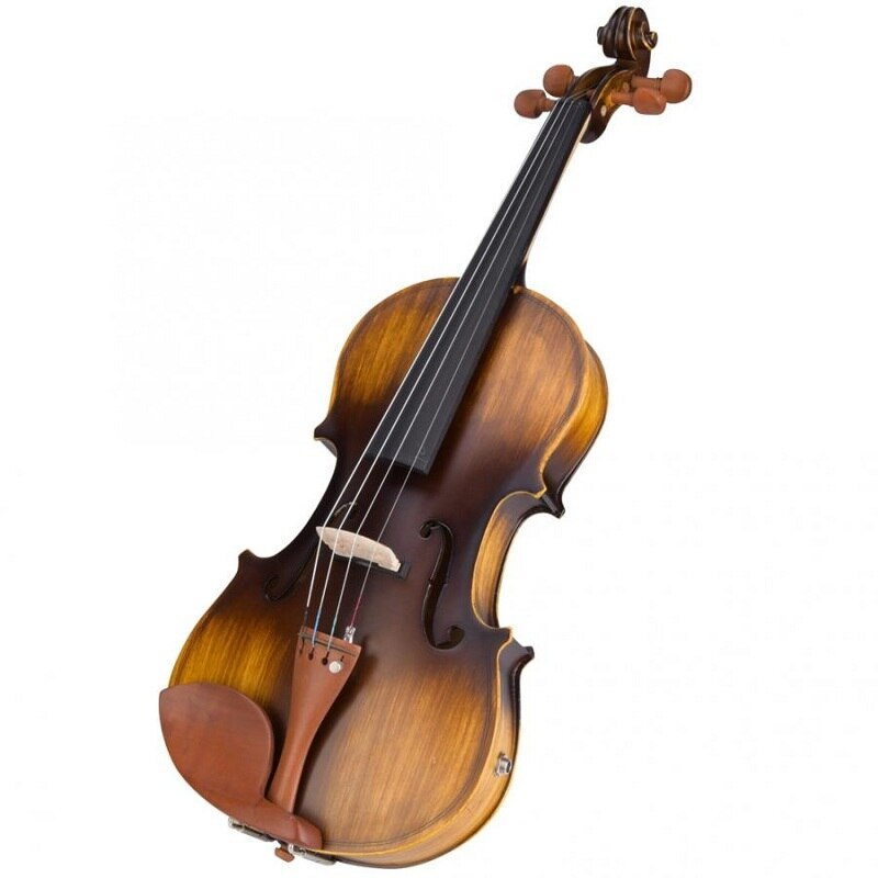 Astonvilla AV-E310 Matte Electro-Acoustic EQ Violin with Case Bow Rosin Extra Strings enlarge