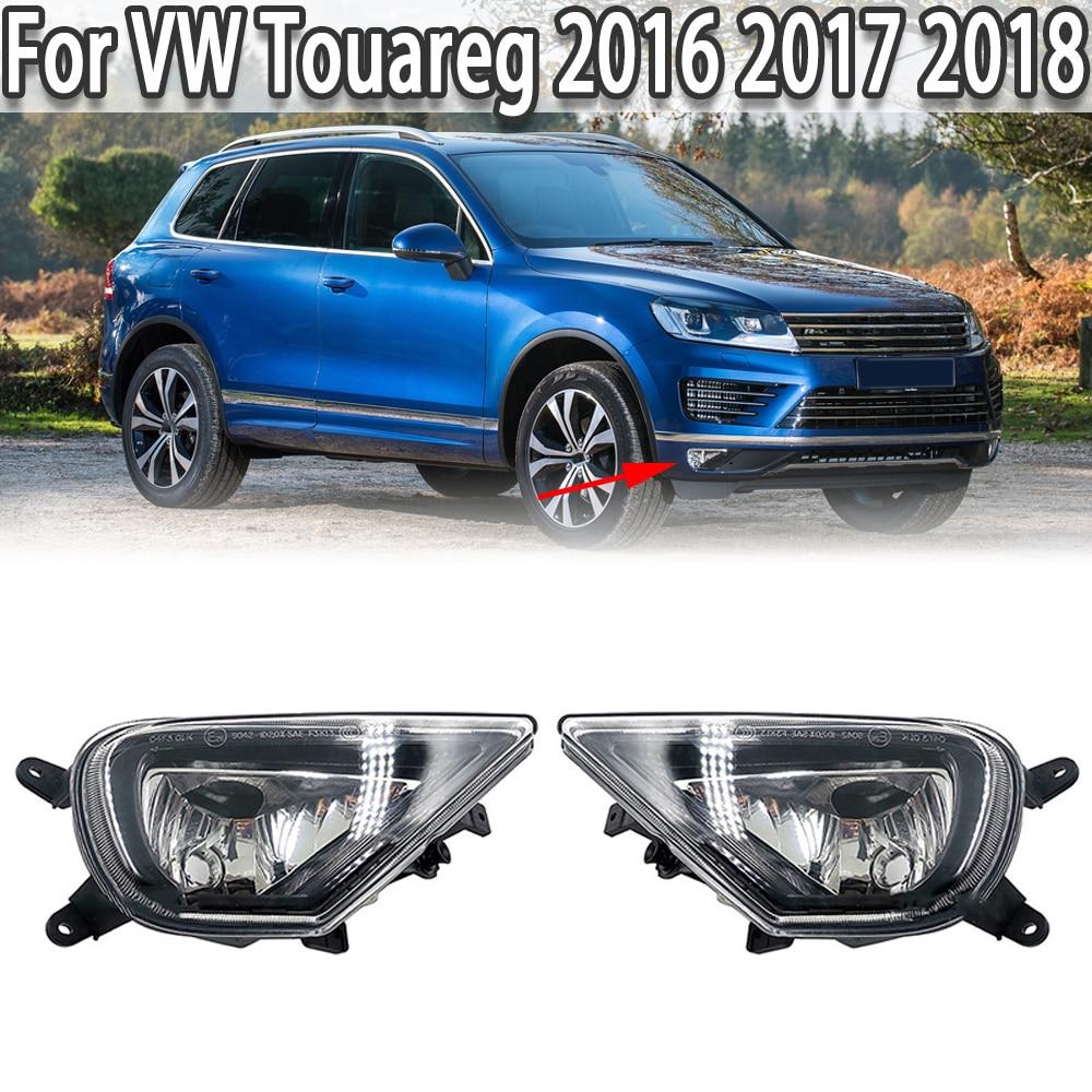K-Car اليسار الأيمن الجبهة الوفير الضباب مصباح خفيف دون Buls ل Volkswagen VW طوارق 2016 2017 2018 7P6941699G 7P6941700G