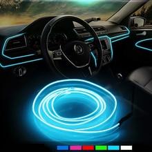 Auto Innen Beleuchtung Auto LED Streifen Girlande EL Draht Neon Licht Für Chevrolet Cruze OPEL MOKKA ASTRA J Hyundai Solaris accent