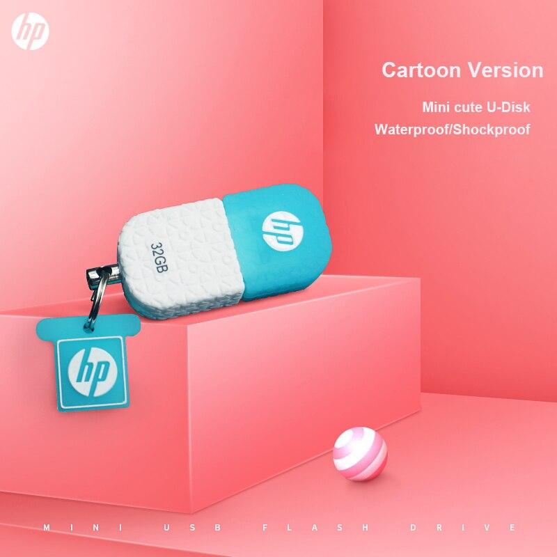 Unidad Flash USB Mini HP V175W 16GB 32GB 64GB memoria usb resistente al agua pendrive a prueba de polvo para tableta PC Smartphone