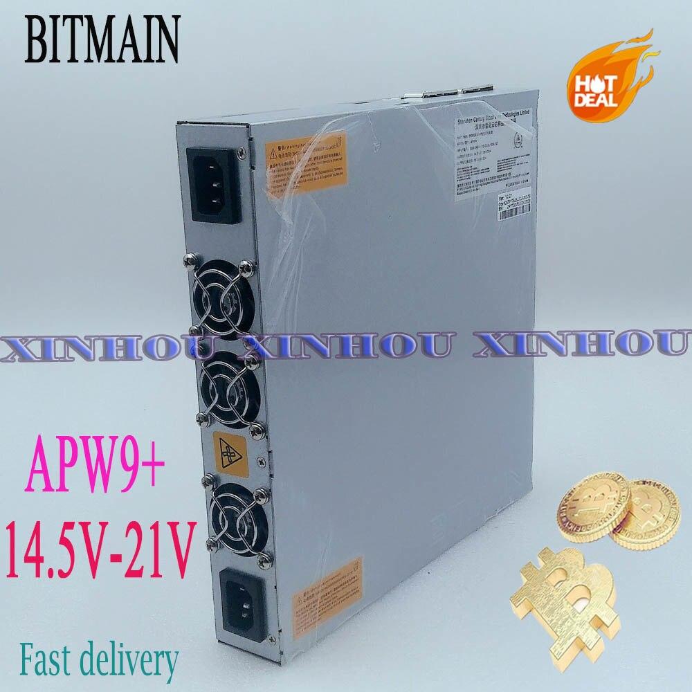 Asic منجم امدادات الطاقة APW9 + 14.5 فولت-21 فولت PSU لمنجم BITMAIN Antminer S17e ، T17e ، S17 + ، T17 +