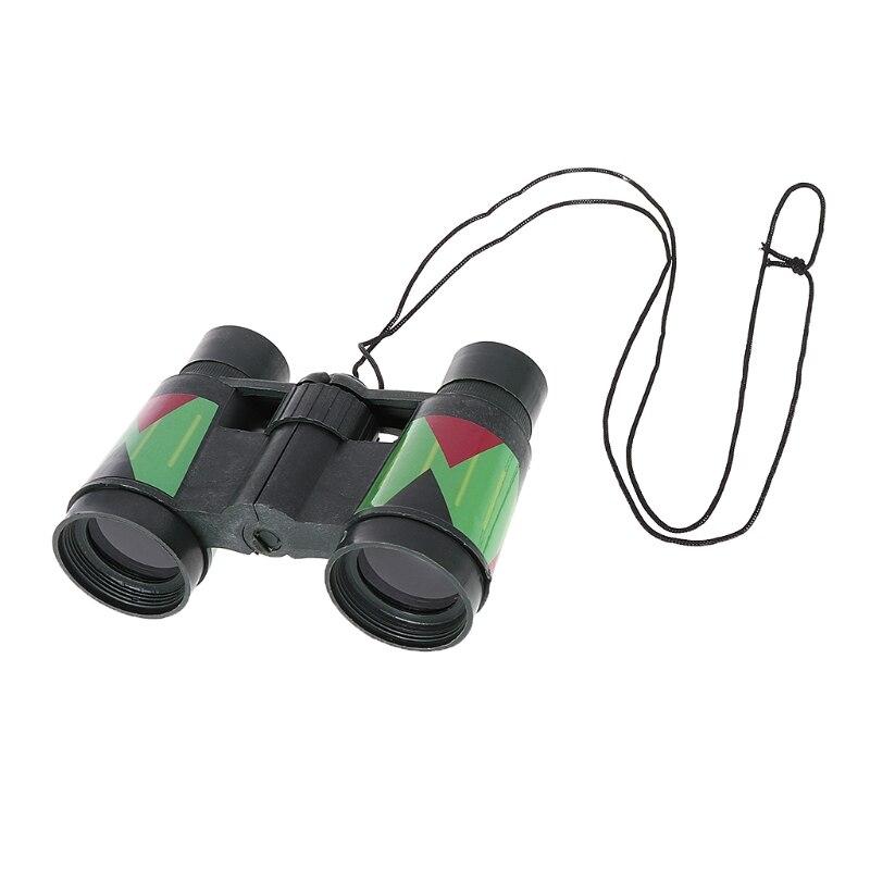 Telescopio para niños de 10x30 Binocular de camuflaje para caza al aire libre, cuerda portátil L9BD