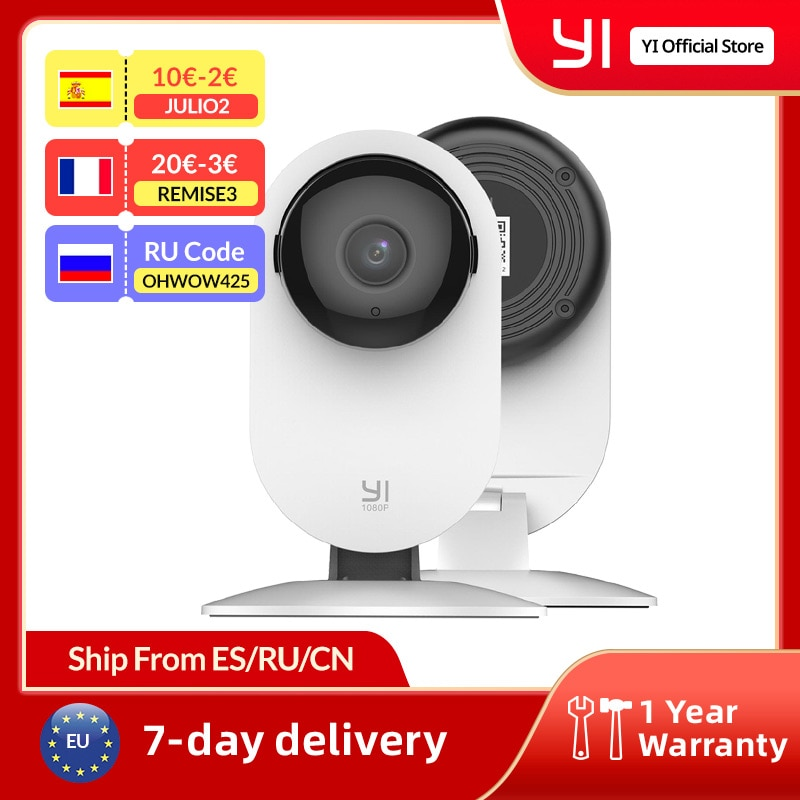 كاميرا YI Home 1080p AI + ذكيّة كشف إنسانيّ رؤية ليلية نشاط إنذارات للمنزل فيديو الحيوانات الأليفة مراقبة الطفل سحابة و Micro SD