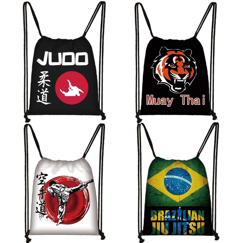 Martial Art Judo / Muay Thai / Karate /Jujitsu Drawstring Bag Boys Girls Backpack Men Travel Bag Women Storage Bags Kids Bookbag