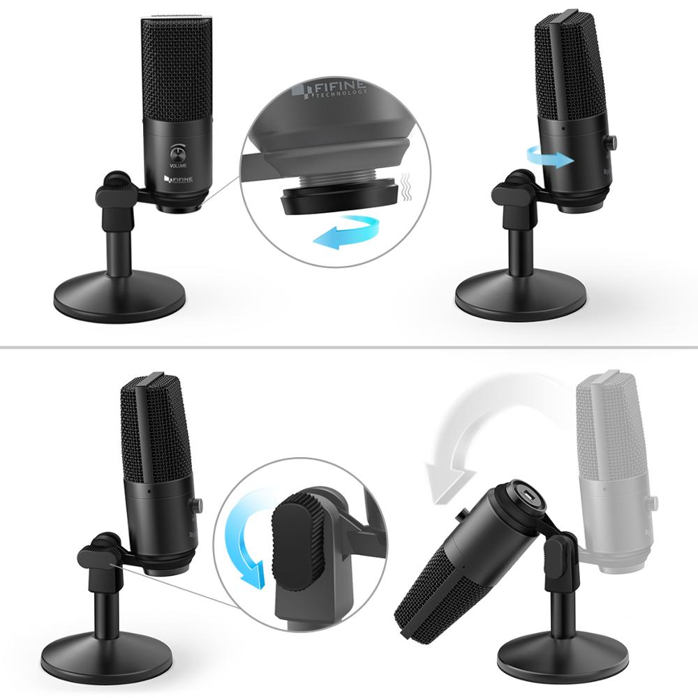 FIFINE USB Microphone for Mac/ pc Windows,Vocal Mic for Multipurpose,Optimized for Recording,Voice Overs,for YouTube Skype-K670B enlarge