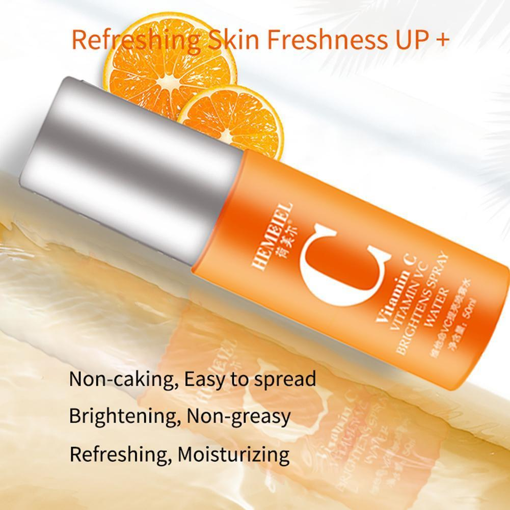 AliExpress - 50ml 100% Pure Vitamin C Toner Brightening Spray Moisturizing Skincare Whitening Control Oil Face Shrink Serum Pores I7G5