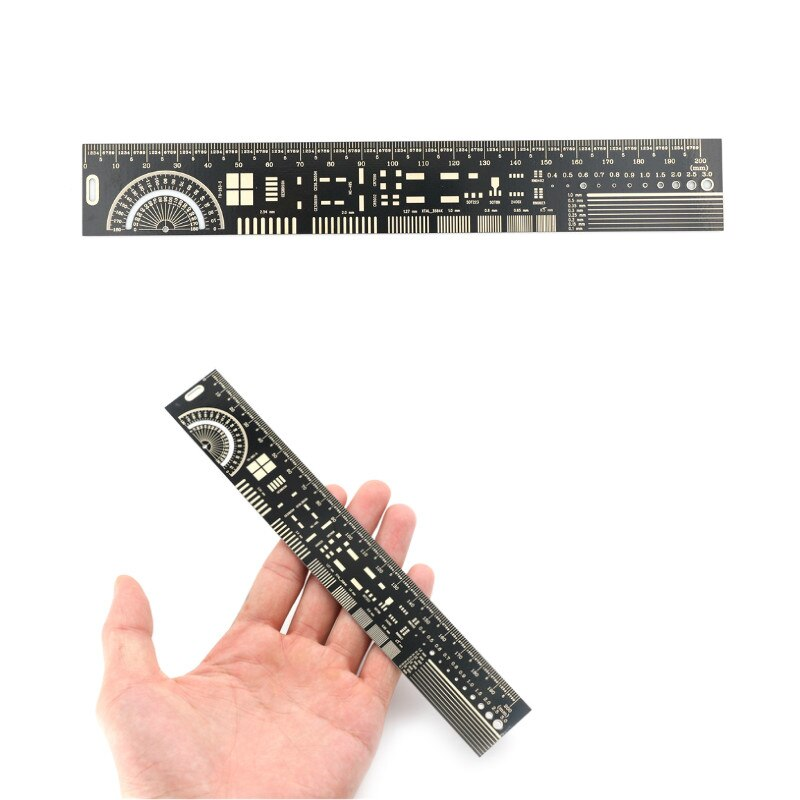 20cm Mutifunctional PCB Engineering Ruler PCB Ruler PCB Package Unit Electronic Engineer Required Pr