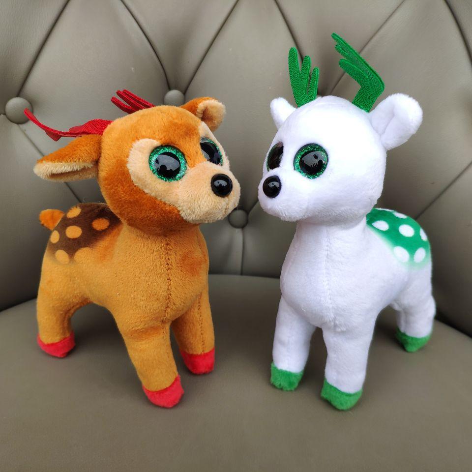 1PC 15CM menta oropel alces alce sika juguetes de ciervo de peluche animales de peluche juguetes de los niños regalo