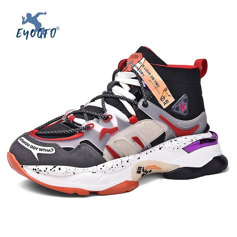 Nuevos zapatos de correr con plataforma para hombre 2019, zapatillas de tendencia para hombre, zapatillas aumentadas, zapatillas deportivas negras Rojas, zapatos informales ligeros