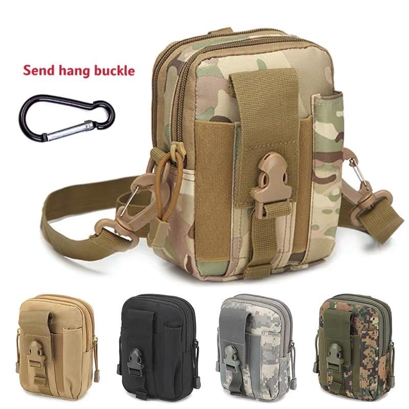 Тактическая поясная сумка, спортивная сумка, сумка для бега, сумка для путешествий и кемпинга, Диагональная Сумка через плечо, искусственна...