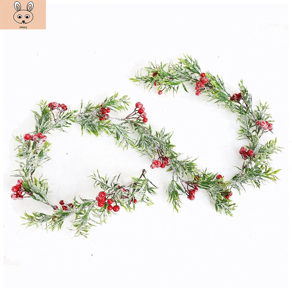 Vid Artificial de Navidad para la decoración de la boda del Hogar Accesorios nupciales despacho falso florístico Diy corona regalo suministros para fiesta 170CM