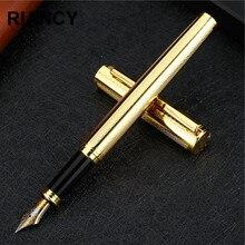 Alta Calidad de lujo del color Sólido de Metal Plumas 0.5mm Iraurita Plumilla de tinta caneta tinteiro fluidez de Escritura papelería 03859