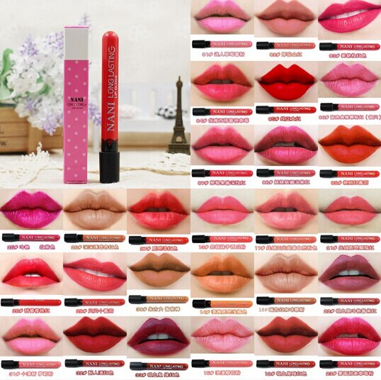 Lápiz labial líquido mate de 24 colores hidratante resistente al agua lápiz labial suave maquillaje cosmético de labios de larga duración