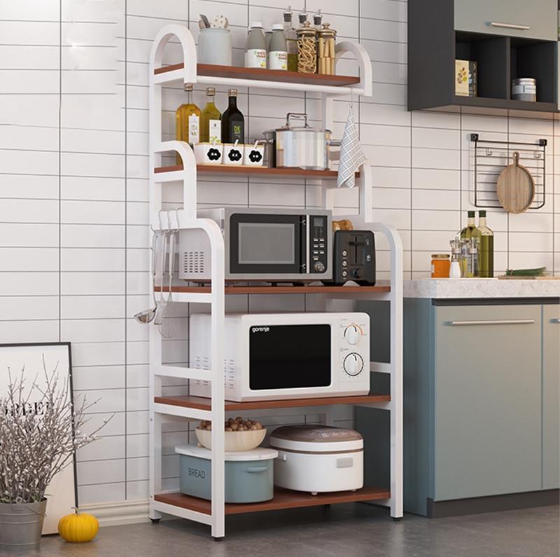 رف مطبخ أرضي من 5 طبقات ، لتخزين أدوات المائدة ، فرن الميكروويف ، طاولة المطبخ ، موفر للمساحة ، ملحقات المطبخ ، المنظم