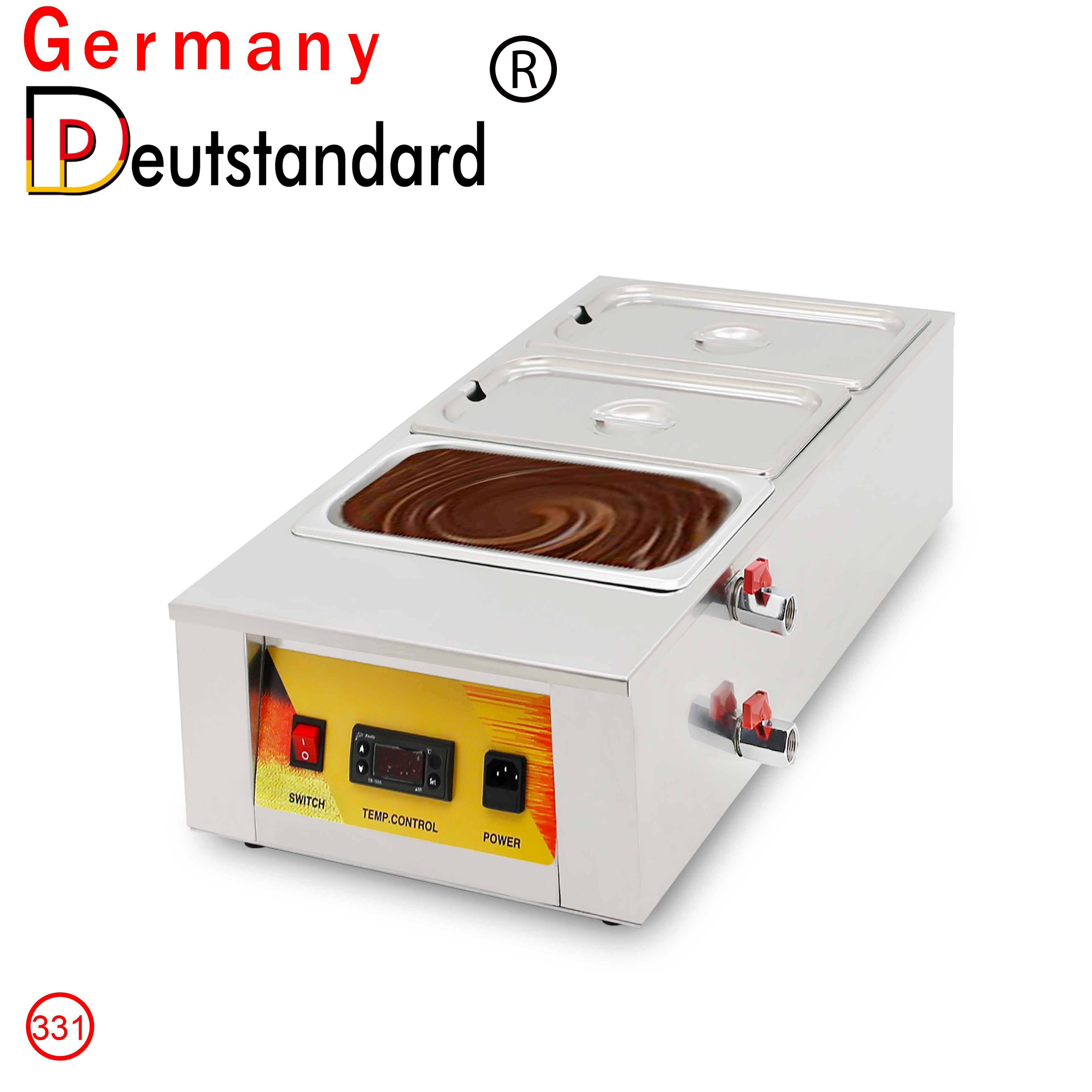 Commercial Chocolate Melting Machine Digital Display Panel With Three Cylinders Warmer Machine Chocolate Tempering Maker With CE hot sale popular 5l commercial spanish churro maker machine with 6l fryer maker churros making machine with ce in high quqlity