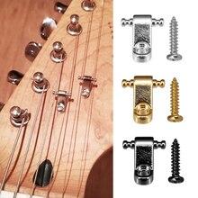 2 pièces guitare électrique rouleau cordes arbres chaîne retenue montage guitare arbre Guide pour guitares électriques pièces et accessoires