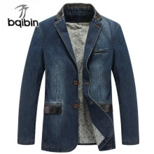New 2021 Brand Jacket Men Denim Jackets Coat Winter Windbreaker Slim Fit Solid Blazer Mens Jackets S