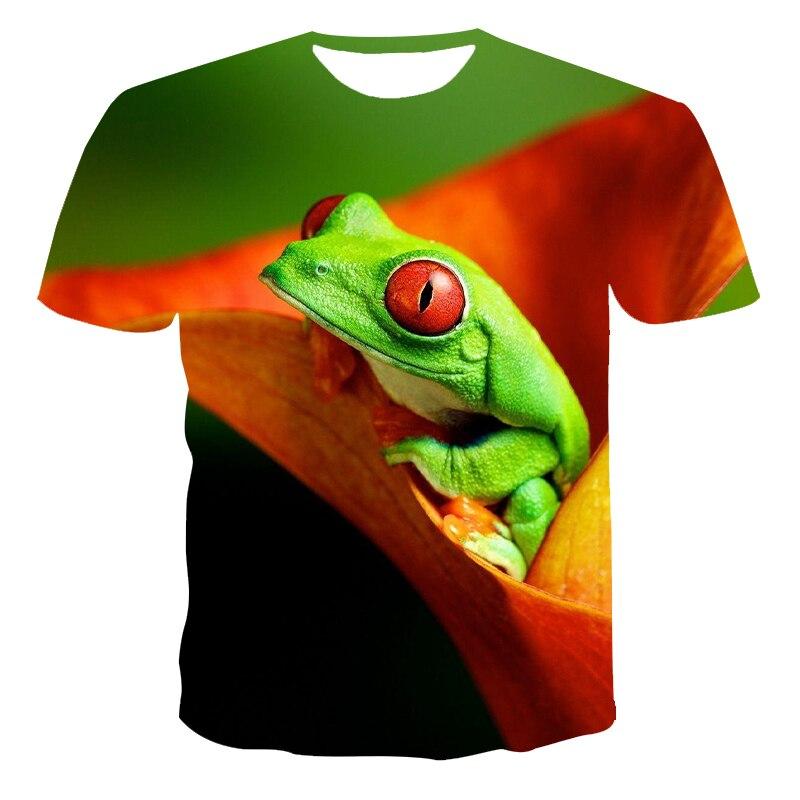 2021 The frog design 3D T-shirt short sleeve men's summer fashion top animal print 3DT shirt men's clothing