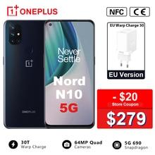 EU Version OnePlus Nord N10 5G 6GB RAM 128GB ROM Snapdragon 690 Smartphone 90Hz Display 64MP quad Cams Warp 30T NFC Handy