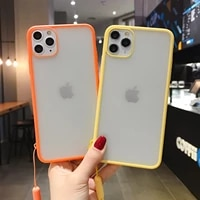 phone cases for iphone 12 11 pro max x xr xs max 6 6s 7 8 plus silicone matte clear thin case transparent shockproof back cover