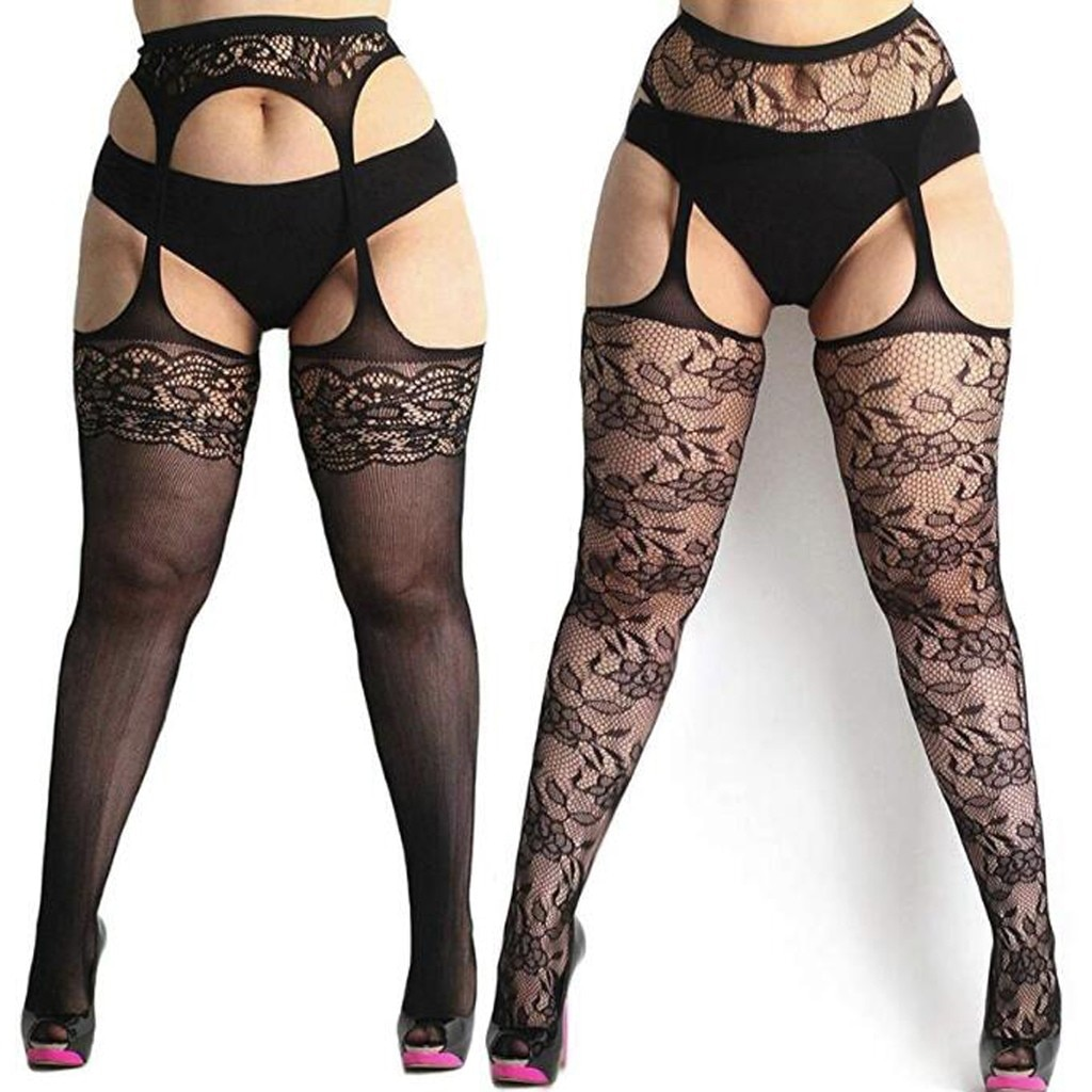 New Sexy Womens fishnet tights Plus Size Lace Suspender Pantyhose Stocking sexy lingerie Christmas чулки сексуальное белье