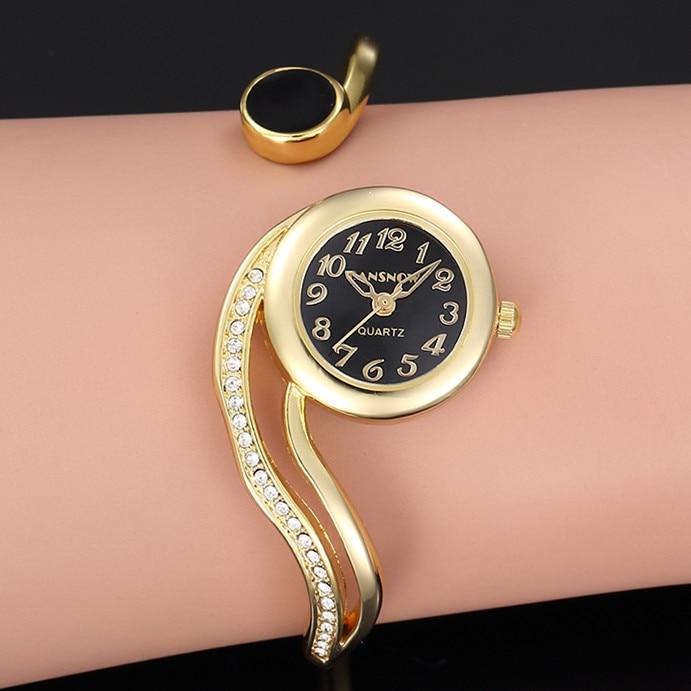 Women's Watches 2021 Luxury Bracelet Watch Gold Silver Dial Small Dial Dress Quartz Wristwatch Gift for Women reloj mujer anke store new womens bracelet watch diamond small dial fashion luxury elegant quartz gold women watches relojes para mujer