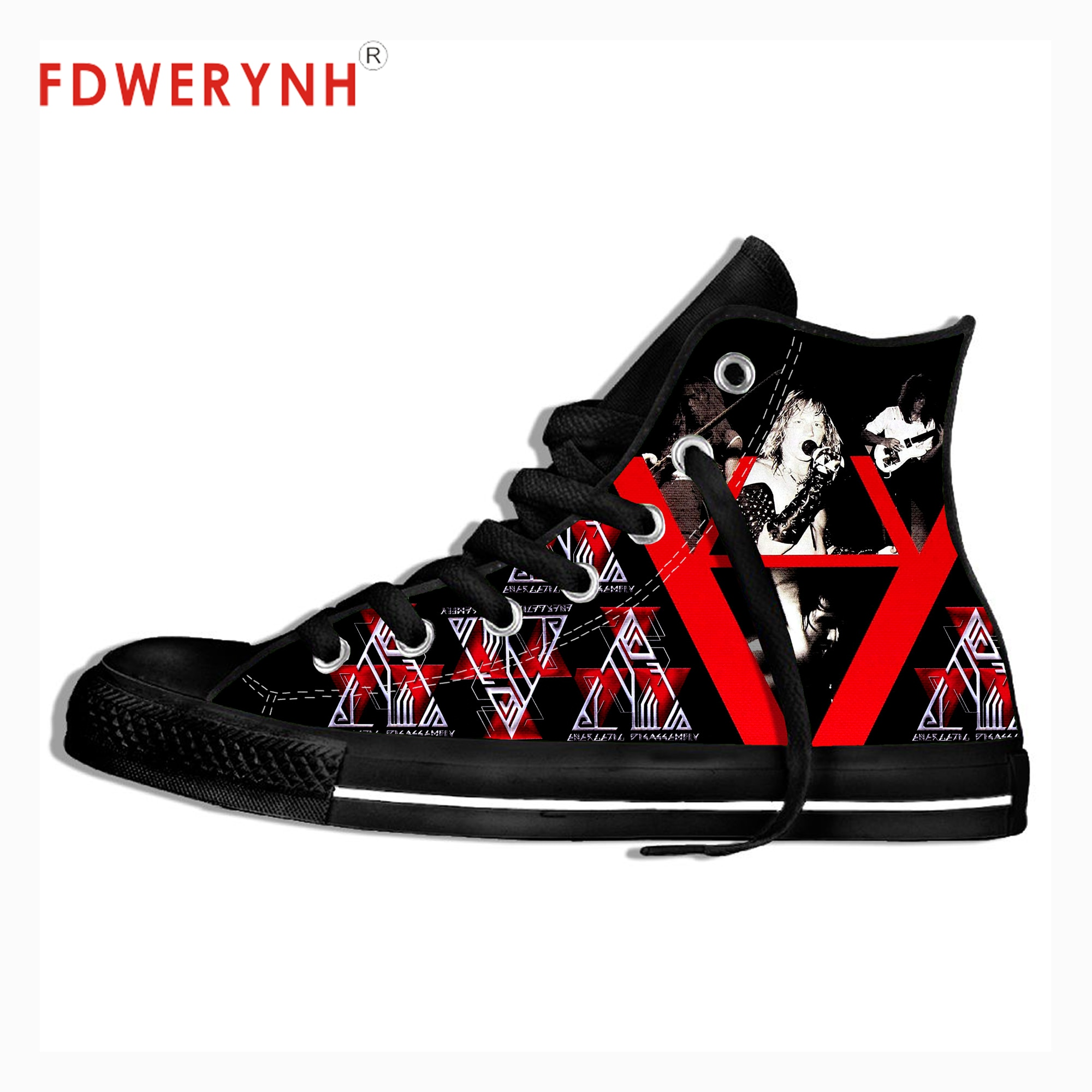 Фото - Black Watchtower Band Rock Pop Band Metal Music Cool Street Breathable Brand Classic Canvas Shoes Men Walking Shoes music band