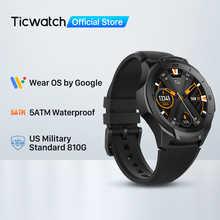 TicWatch S2 (Восстановленный) одежда ОС Google Смарт-часы Bluetooth GPS спортивные часы для мужчин 5ATM водонепроницаемый для IOS и Android