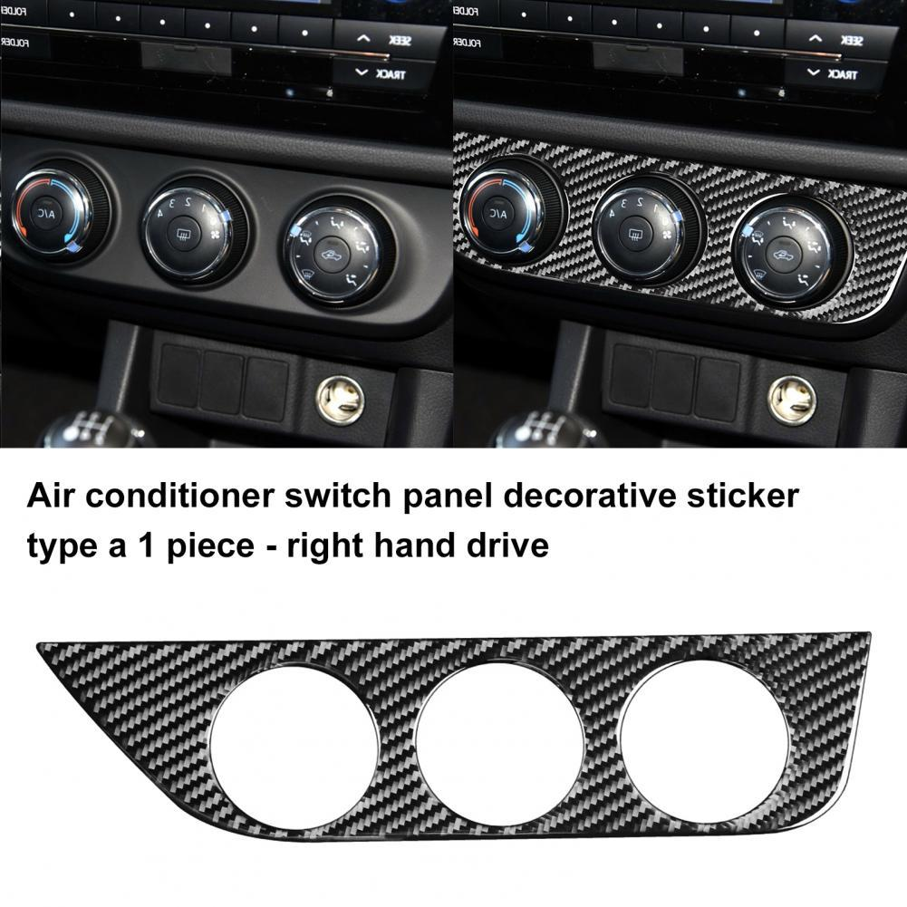 scallop trim crochet panel embroidered top Stable  Simple Self-adhesive Air Conditioning Control Panel Trim Carbon Fiber AC Panel Trim Cover Professional