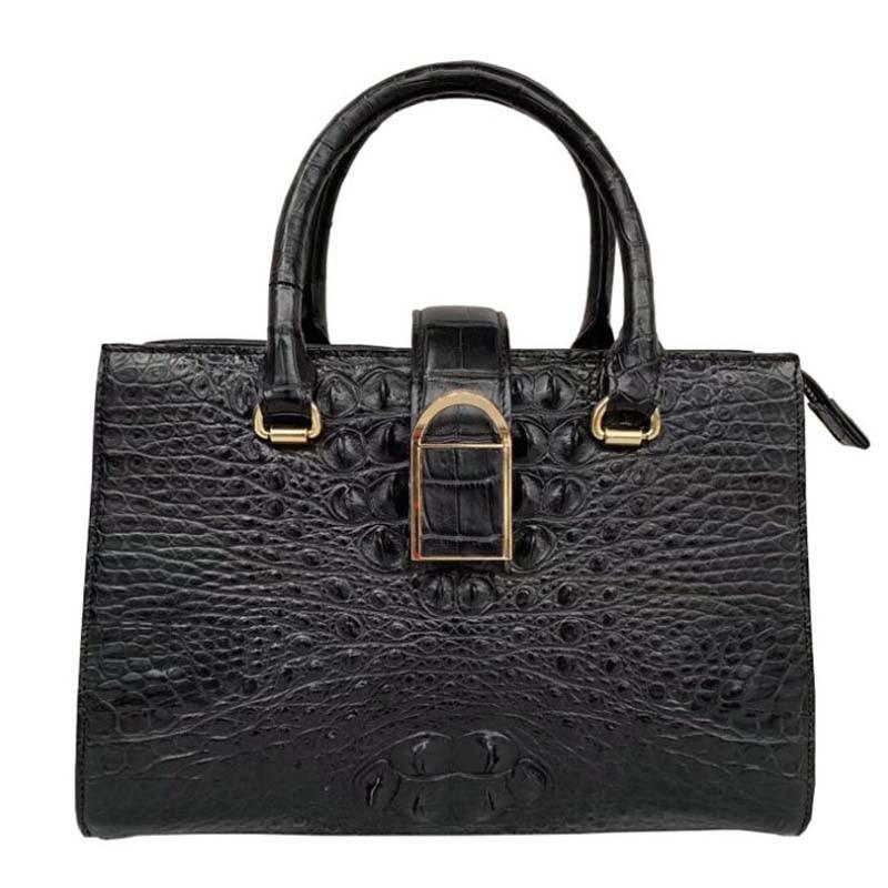Wanexing-حقيبة يد نسائية من جلد التمساح ، حقيبة كتف عصرية من تايلاند