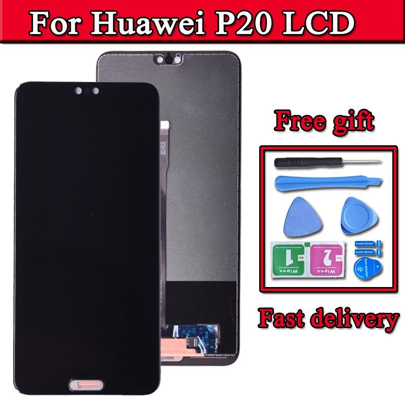 شاشة لمس LCD مقاس 5.8 بوصة ، لهاتف Huawei P20 EML L29 L22 L09 AL00