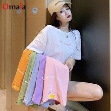 Harajuku Simple letter Print t-Shirts 2020 summer Women t-shirt korean kawaii t shirt Casual Loose Short Sleeve tees Tops Femme