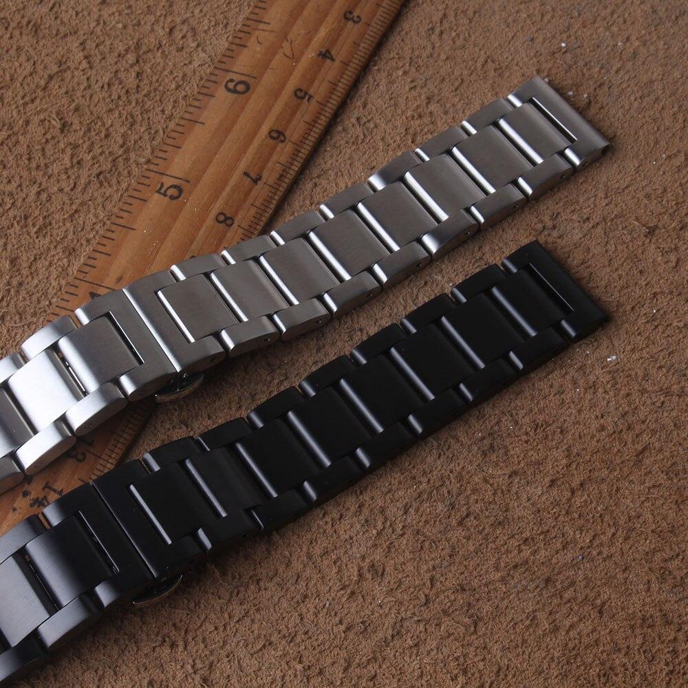 Pulseiras de Relógio para Samsung Substituição dos Homens Galaxy Engrenagem Banda Relógio Inteligente Pulseira 20mm 22mm Matte Prata Preto 42mm 46mm s3