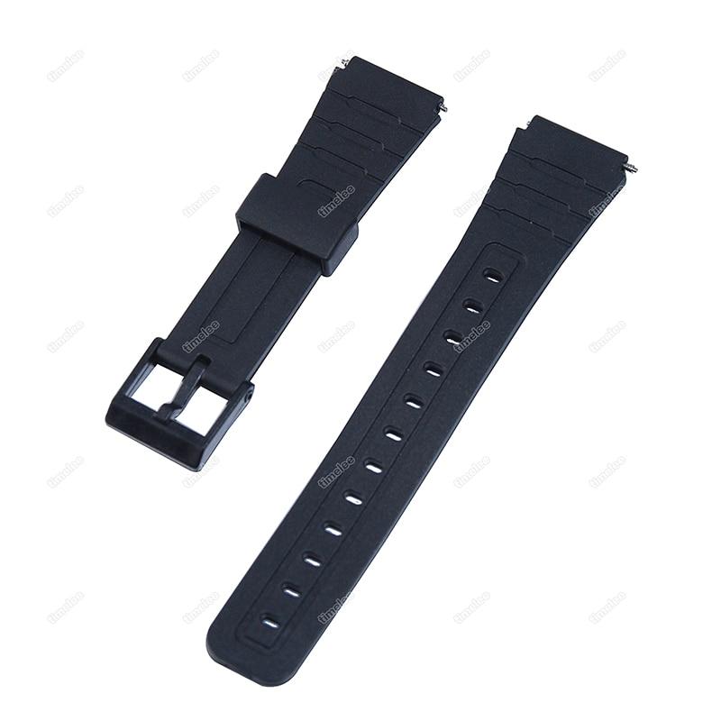 Black Wrist Watch Strap Replacement for F 91W F 93W F 105W F 106W A158W B640 A168 Quartz Digital Dia
