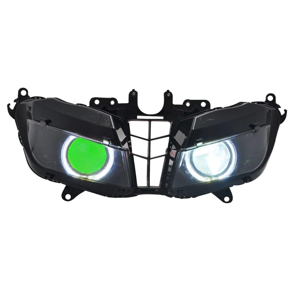 دراجة نارية واضح الجبهة العلوي المصابيح الأمامية إضاءة أمامية مجموعة مصابيح لهوندا CBR600RR 2013 2014 2015 2016 2017 2018