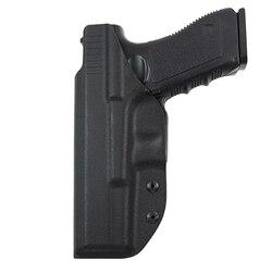 Iwb kydex tático dentro escondido carry gun coldre para glock 17 26 22 31 airsoft pistola caso coldre caça acessórios