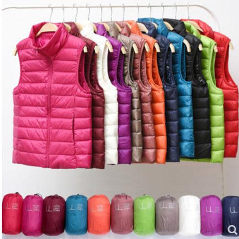 Chaleco ultraligero sin mangas de marca para mujer, chaqueta ajustada para chica, chaleco ligero a prueba de viento, chaleco cálido