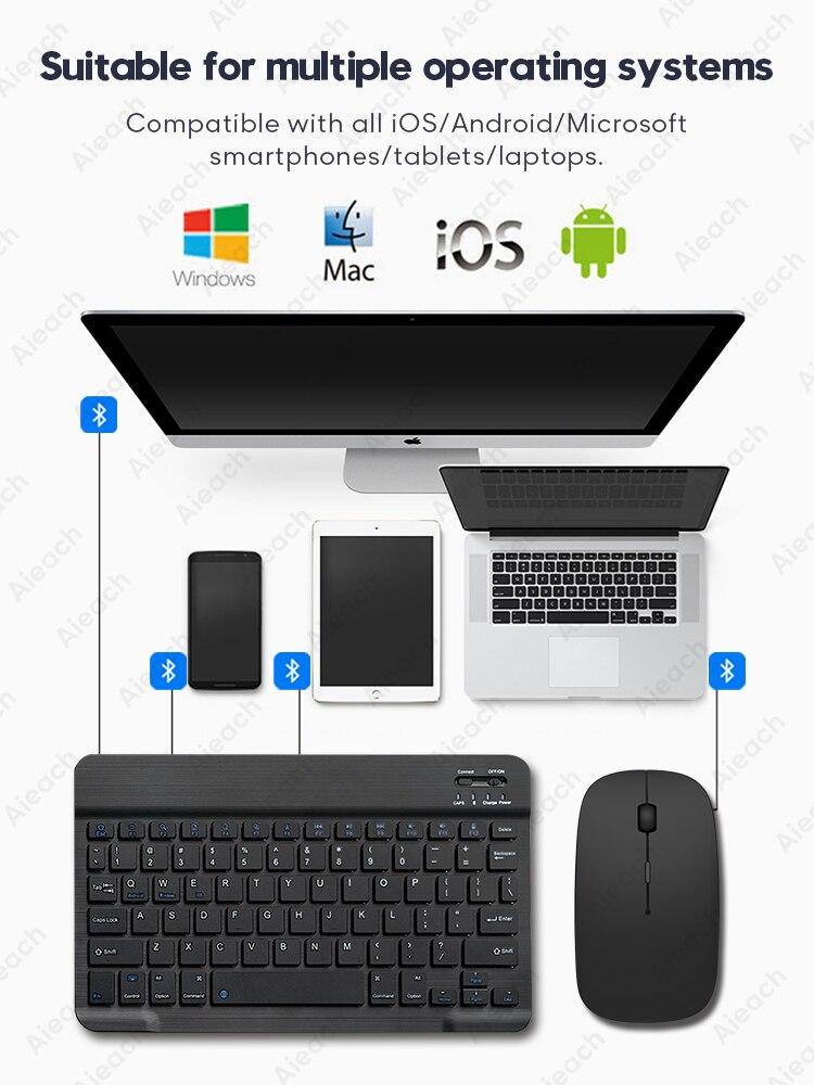 تابلت لوحة مفاتيح لاسلكية لباد برو 2020 11 12.9 10.5 Teclado ، بلوتوث لوحة المفاتيح الماوس لباد 8th 7th 6th Air 4 3 2 mini 5
