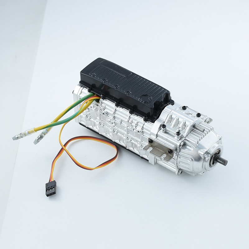 Metal Two Speed Transmission Gearbox 27T 540 Brush Motor for 1/14 Tamiya RC Truck Tipper SCANIA 620 VOLVO FH16 Actros 3363 MAN enlarge