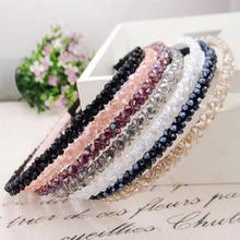 Fashion Shinny Crystal Hairbands Beaded Hair Hoop 2019 Diamond Hair Bands for Women Rhinestone Headwear Turban Hair Accessories