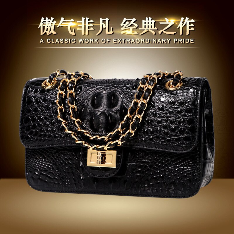 Kaisiludi leather crocodile-patterned women's business bag 2019 new casual single-shoulder oblique bag fashion small bag