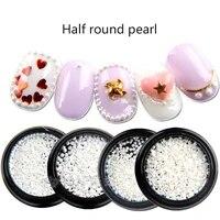 diy half round flat back beads abs imitation phone accessories nail pearls decoration phone nail art jewelry nail rhinestones