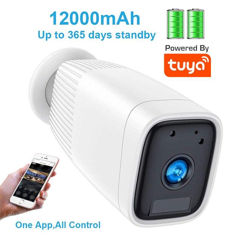 Cámara IP con batería Tuya 1080P impermeable al aire libre WiFi Google cámara con Audio bidireccional visión nocturna PIR detección de movimiento