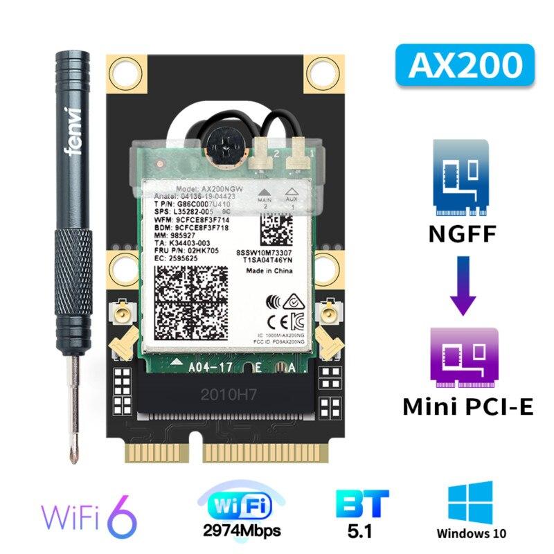 Mini adaptador sem fio bluetooth 2974 de 5,1 mbps mini PCI-E Wi-Fi...