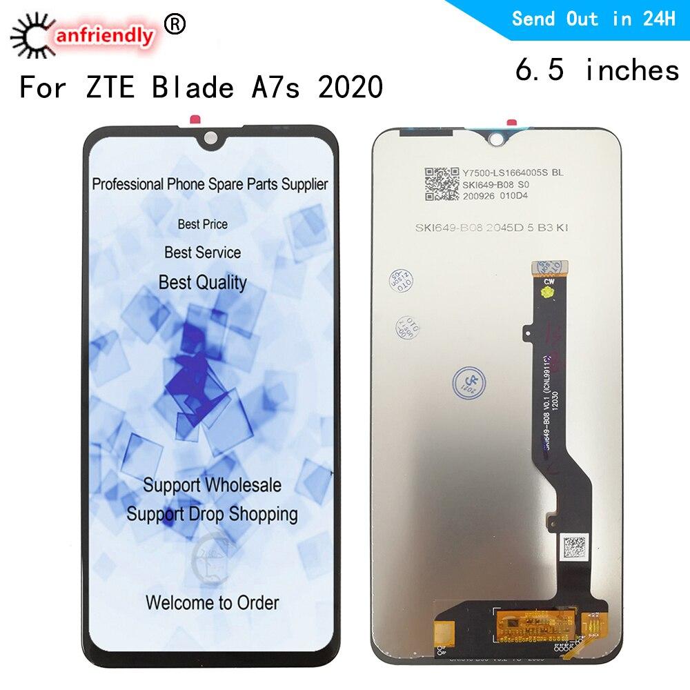 A7020 LCD ل ZTE بليد A7S 2020 شاشة الكريستال السائل + لوحة اللمس شاشة محول الأرقام وحدة الجمعية عرض إصلاح ل ZTE بليد A7S 2020