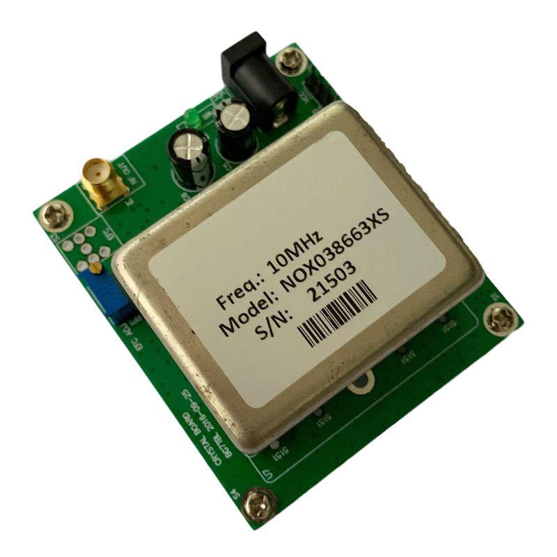 Módulo de referencia estándar de frecuencia de oscilador de cristal OCXO de 10MHz con placa